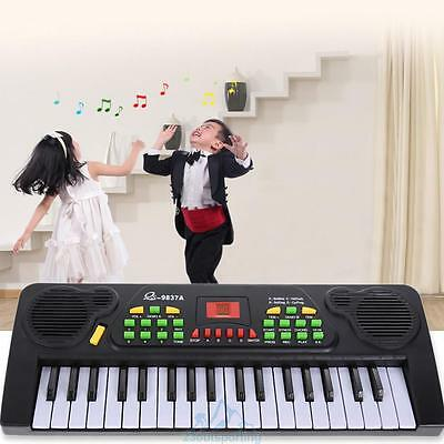 37 Keys Music Electronic Keyboard Kids Piano Organ With Microphone & Adapter Toy
