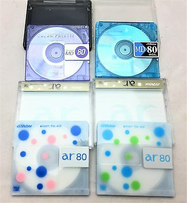 Victor mini disk used Blank disc 4 pieces set  From Japan F/S