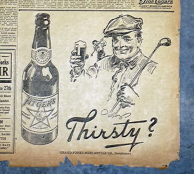 1918 Duluth Fitgers Beer Newspaper Ad