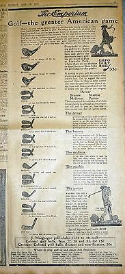 Rare 1917 Newspaper Ad - Sportings Goods Store Vintage J. Macgregor Golf Club Ad