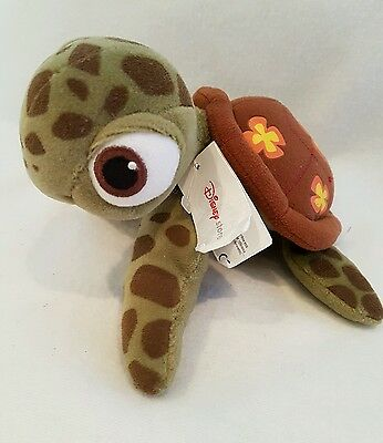 "Finding Nemo Squirt Turtle soft plush toy 9"" disney store new"