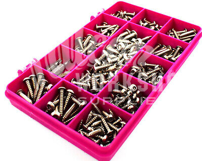 243 ASSORTED 6g 8g 10g STAINLESS SECURITY PIN POZI PAN SELF TAPPING SCREWS KIT