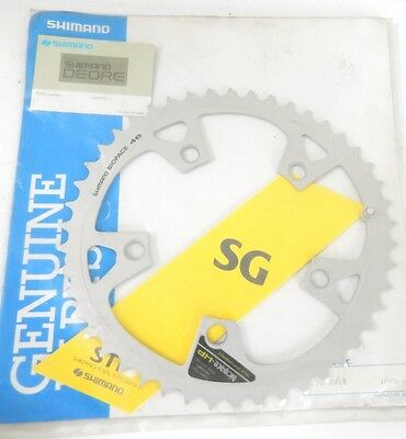 Plateau Shimano Deore Biopace 46 Dents Aluminium 110 Chainring Neuf