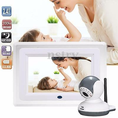 7 Inch Wireless Digital HD LCD 2.4G Baby Monitor Camera Night Vision Audio Video