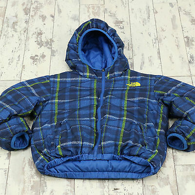Kids Vintage North Face Reversible Padded Jacket Used Patterned Age 7/8 (X2312)