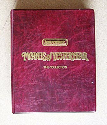 Matchbox Models of Yesteryear The Collection Folder Binder First Edition 1986