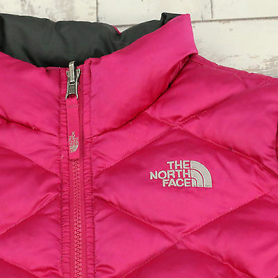 Kids Vintage Pink North Face Padded Jacket Used Girls Age 10/12  M (X2311)