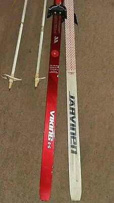 Jarvinen Cross Country Ski Set Skis Boot Poles Vintage