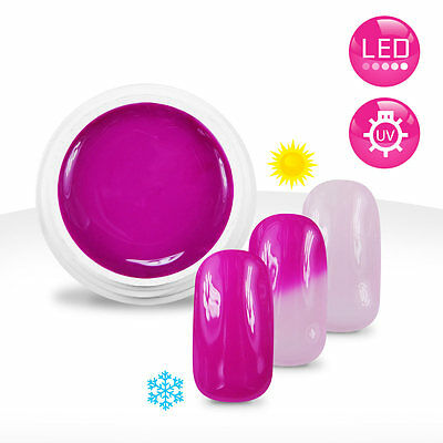 Gel UV / LED Couleur Thermo Fuschia / Rose Ballerine - 5ml Manucure Ongles Nail