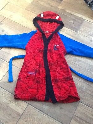 boys Marvel spiderman dressing gown age 6-7