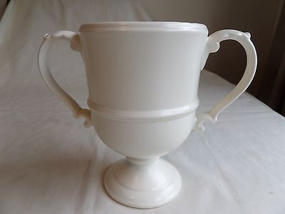 Beswick Pottery Two Handle Cup/vase 2379 In White Mint Impressed Mark To Base