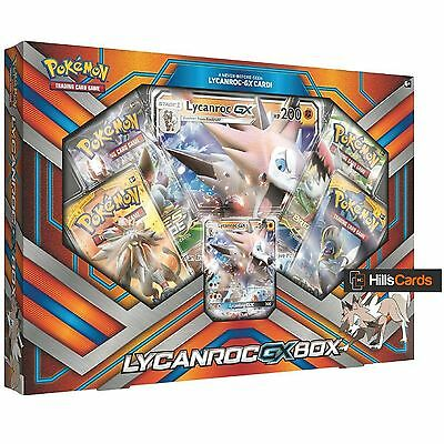 Pokemon Lycanroc GX Collection Box: Booster Packs + Promo Cards - Sun & Moon