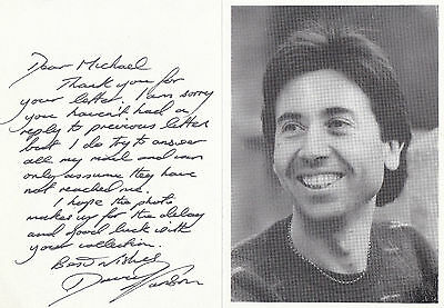 EARLY DAVID JANSON HAND SIGNED & WRITTEN PROMO LETTER CARD 8.5 x 6