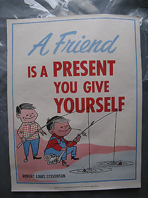 National Research Bureau School Poster 1960's A Friend Robert Louis Stevenson