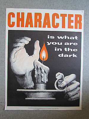 Character  School Poster  National Research Bureau School Poster 1960's