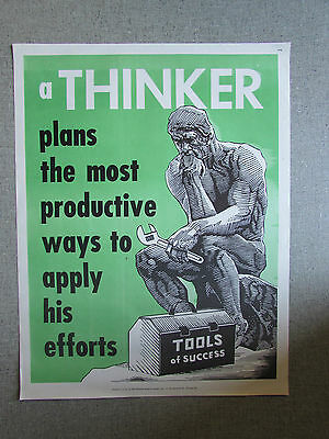 Tools of Success A Thinker  National Research Bureau School Poster 1960's