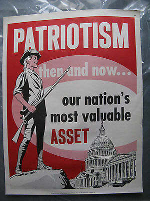 Patriotism Patriot an Asset School Poster National Research Bureau 1960's