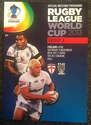 """Rugby League World Cup 2013 Group """"a"""" Programme"""