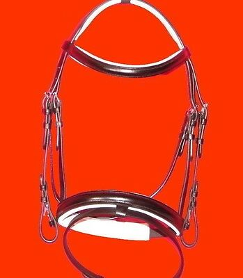 Black & White Padded Bridle - Full Size