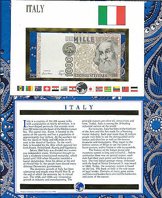 E Banknotes of All Nations Italy 1000 Lire 1988 UNC P109b PF523882M