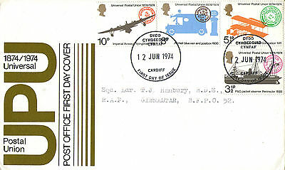 12 June 1974 Universal Postal Union Post Office First Day Cover Sutton Fdi