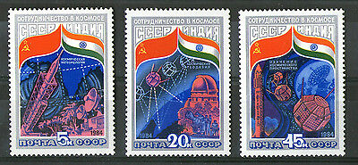 Russia 1984 Space Cooperation Set Of All 3 Commemorative Stamps Sg 5424 / 6 Mnh