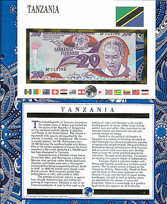 E Banknotes of All Nations Tanzania 1985 20 Shilingi P9 AUNC BP753796