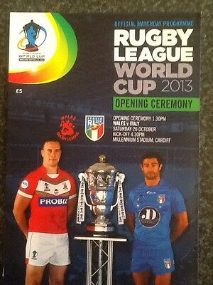 # Rare # Rugby League World Cup 2013 Opening Ceremony Wales V Italy  Programme