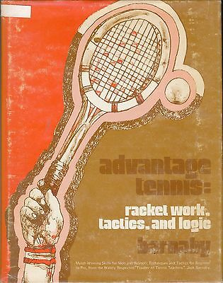 ADVANTAGE TENNIS signed by Jack Barnaby; 1975; technical coaching book