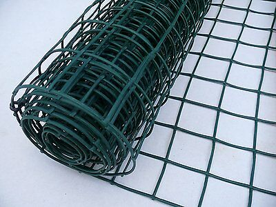 Plastic Garden Fencing 1m x 5m Green 50mm Holes Clematis Netting Mesh - Ideal