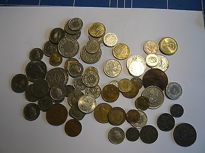 Collection of old foreign coins