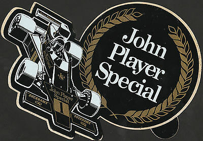 John Player Special Jps Lotus 72 1975 Ronnie Peterson Original Period F1 Sticker