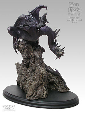 Lord of the Rings Fell Beast and Morgul Lord Sideshow Weta Polystone Statue MIB