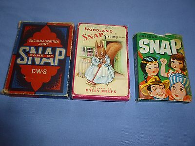 Job Lot Rare  Vintage Collectable  Playing Card Games Snap Pepys Cws Tower Press