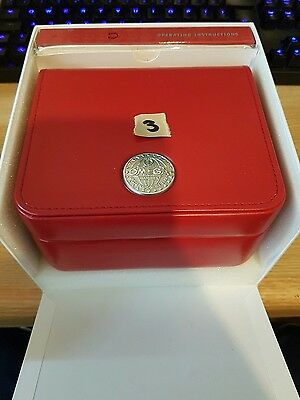 Omega Seamaster Genuine Watch box with card sleeve and instructions Brand NEW !!