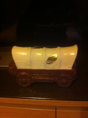 Vintage Covered Wagon Liquor Bottle Decanter