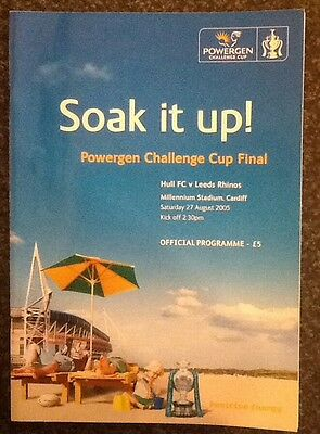 Powergen Challenge Cup 2005 Final Rugby League Programme