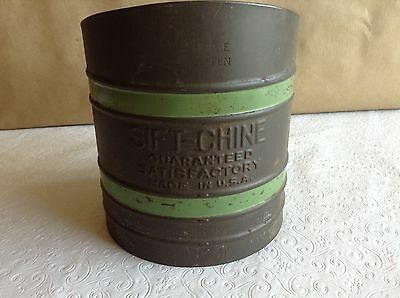 Sift-Chine (3) Screen Vintage Sifter with Green Bands Made in USA