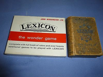 Job Lot Vintage Collectable  Card Games Lexicon . Waddingtons Card Games
