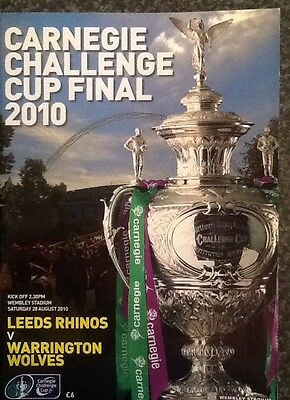 Carnegie Challenge Cup 2010 Final Rugby League Programme