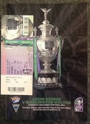 Carnegie Challenge Cup 2012 Final Rugby League Programme & Ticket