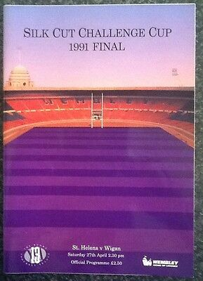 Silk Cut Challenge Cup 1991 Final Rugby League Programme