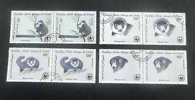 Comoros-1987-Mongoose/Lemur-Full set of Joined pairs-Used
