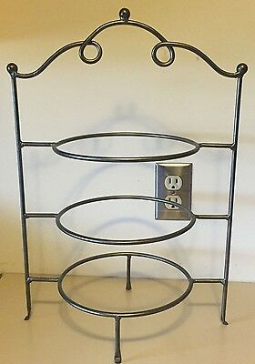 3 Tiered Countertop Plate Rack Pie Stand
