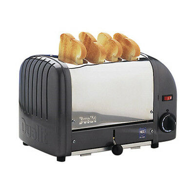 Cadco CTW-4M Pop-Up Toaster with Metallic Grey Aluminum End Panels - 120V