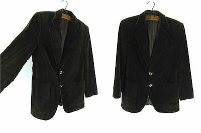 Vintage St Michael Brown Velvet Jacket/Blazer Single Breasted Suit Chocolate