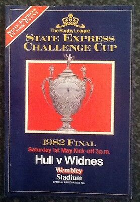 State Express Challenge Cup 1982 Final Rugby League Programme