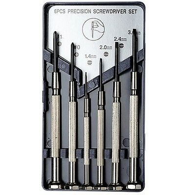 6 Assorted Precision Screwdrivers Case Repair Craft Micro Laptop Jewellery Glass