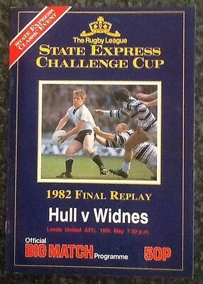 #replay# State Express Challenge Cup 1982 Final Rugby League Programme