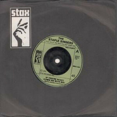 "STAPLE SINGERS If You're Ready 7"" VINYL UK Stax B/W Touch A Hand Make A Frie"